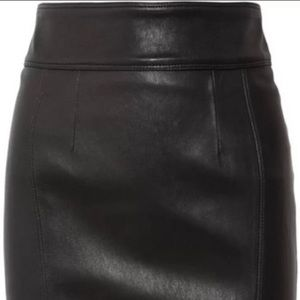Burberry Stretch Leather Pencil Skirt